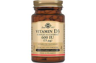 Витамин D3 600 IU (ME) Solgar